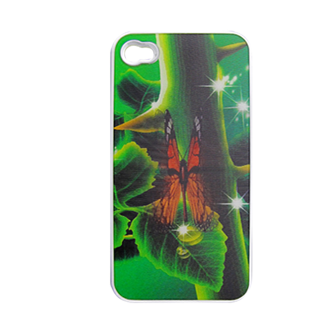 3D Butterfly Hard Plastic Back Case Cover for iPhone 4 4G
