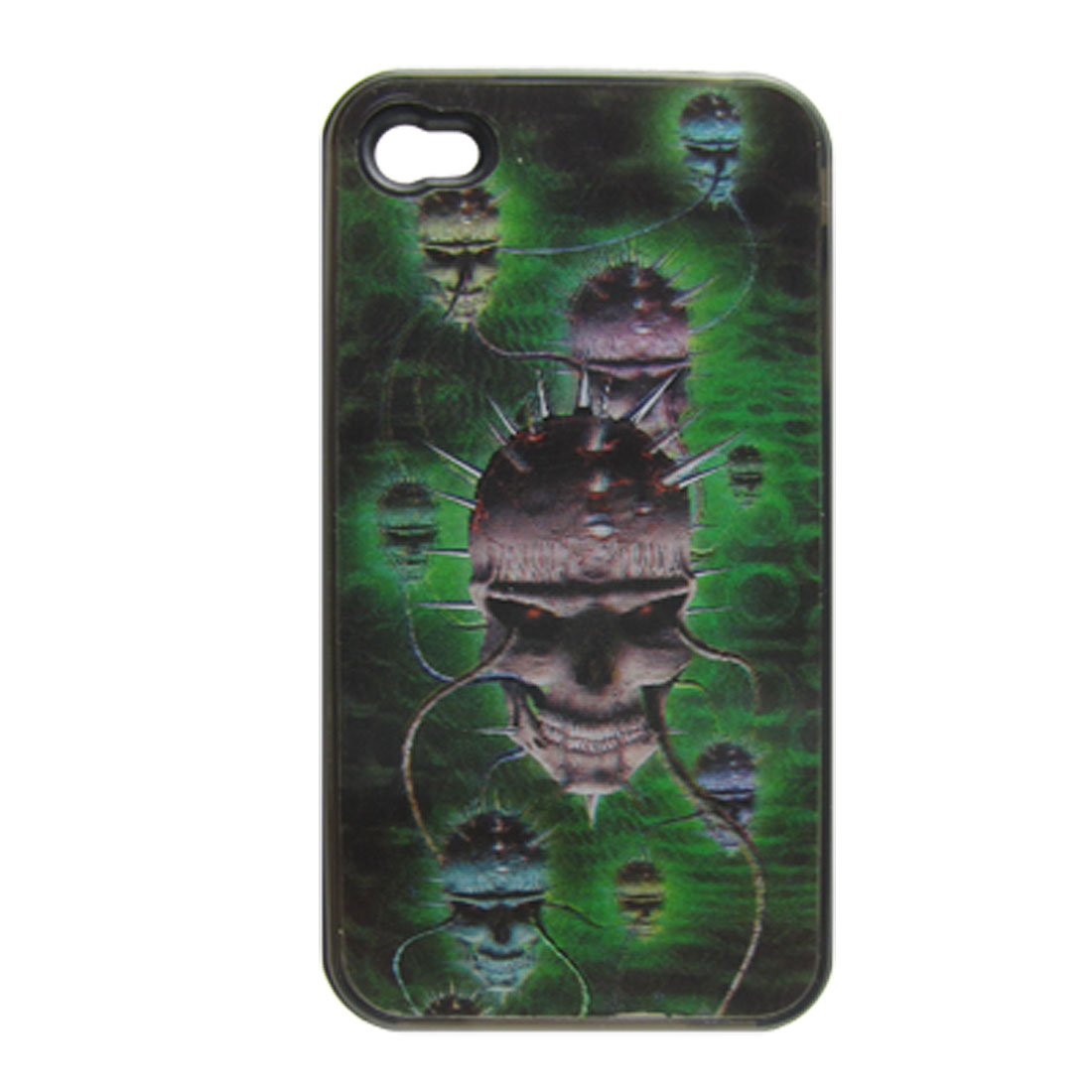 3D Skull Print Style Hard Plastic Back Cover for iPhone 4 4G