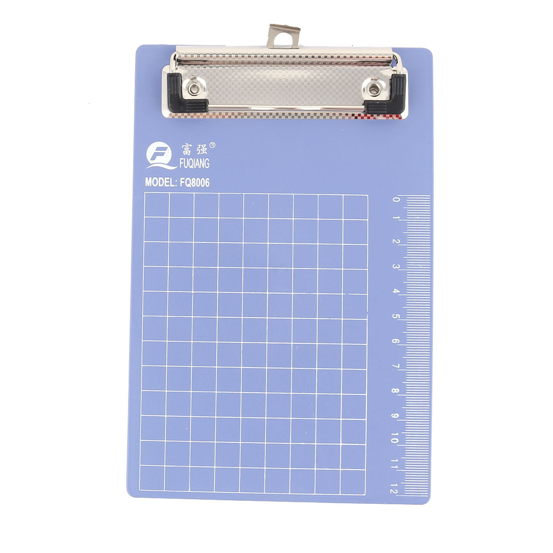 School Office Small Steel Blue Plastic Writing Board Clamp