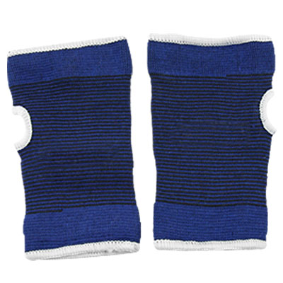 2 Pcs Blue Elastic Wrist Palm Support Protector Brace