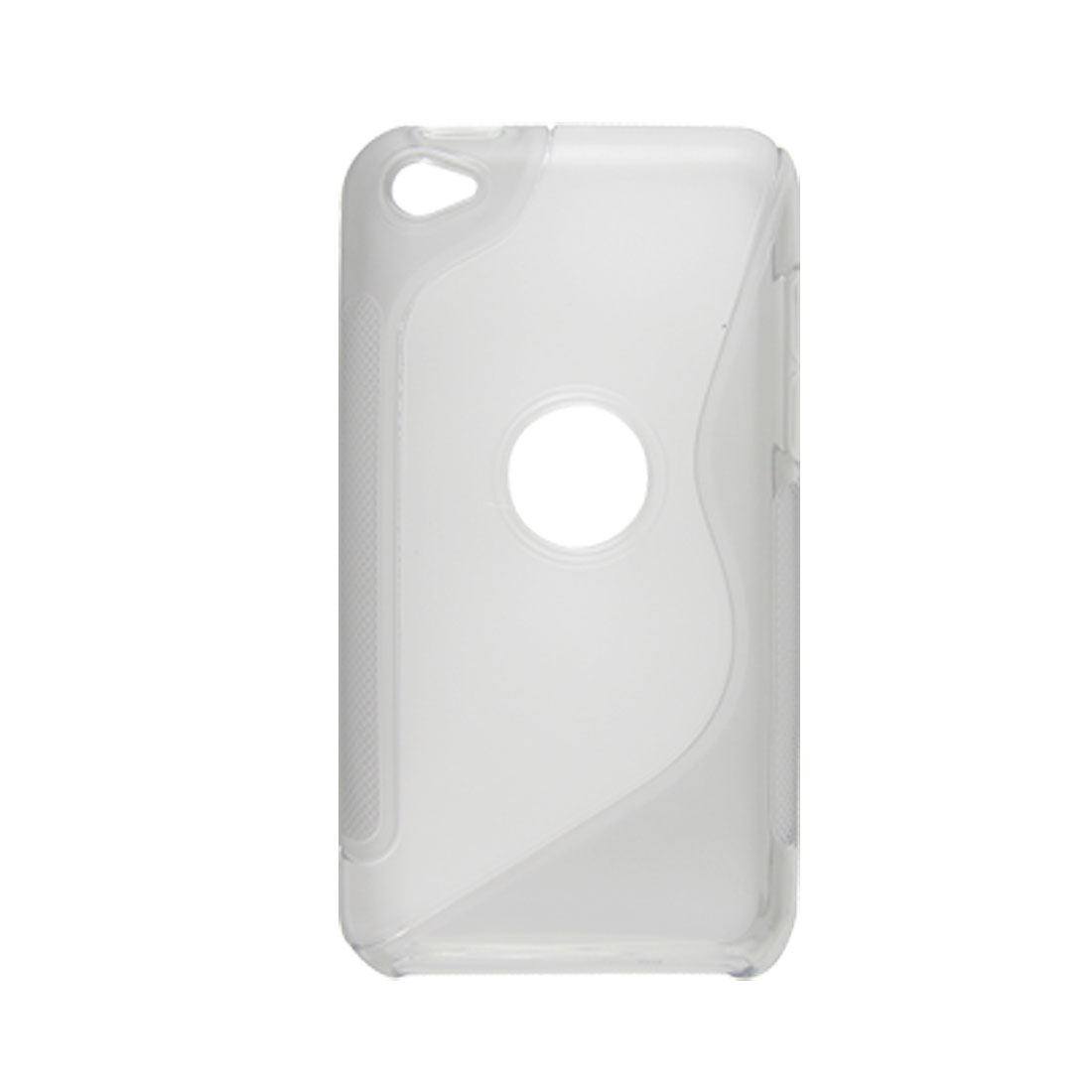 Clear Gray Two-tone Soft Plastic Back Hole Case for iPod Touch 4G