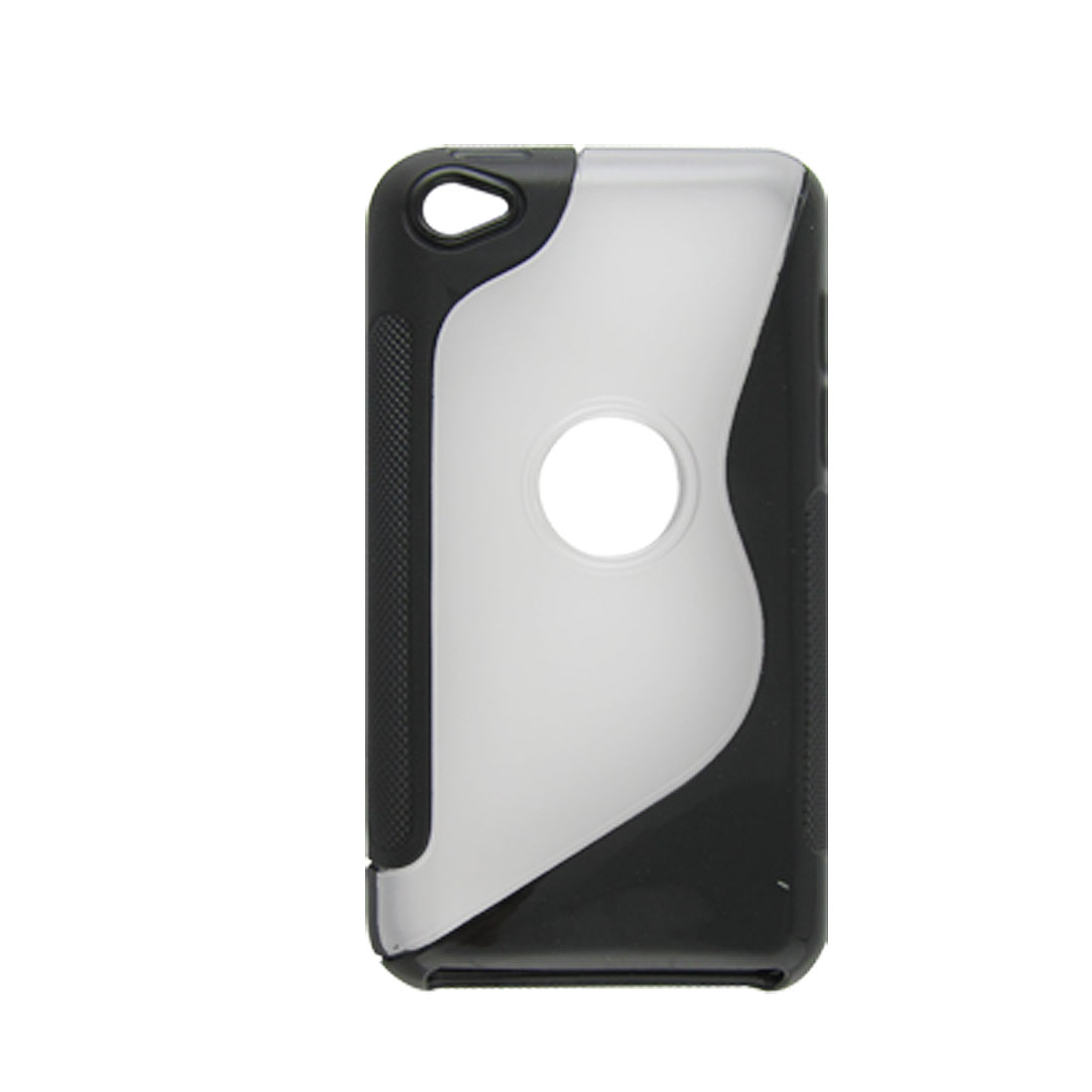 Black Clear Soft Plastic Back Hole Case for iPod Toouch 4G