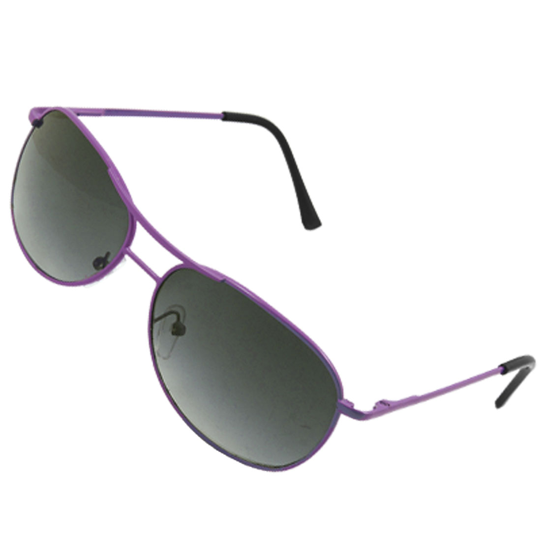 Double Bridge Purple Metal Frame Dark Lens Child Sunglasses