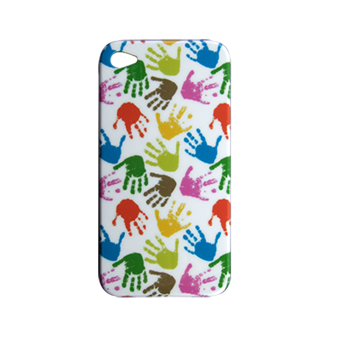 Colourful Palm Pattern Hard Plastic Back Case Cover for iPhone 4 4G