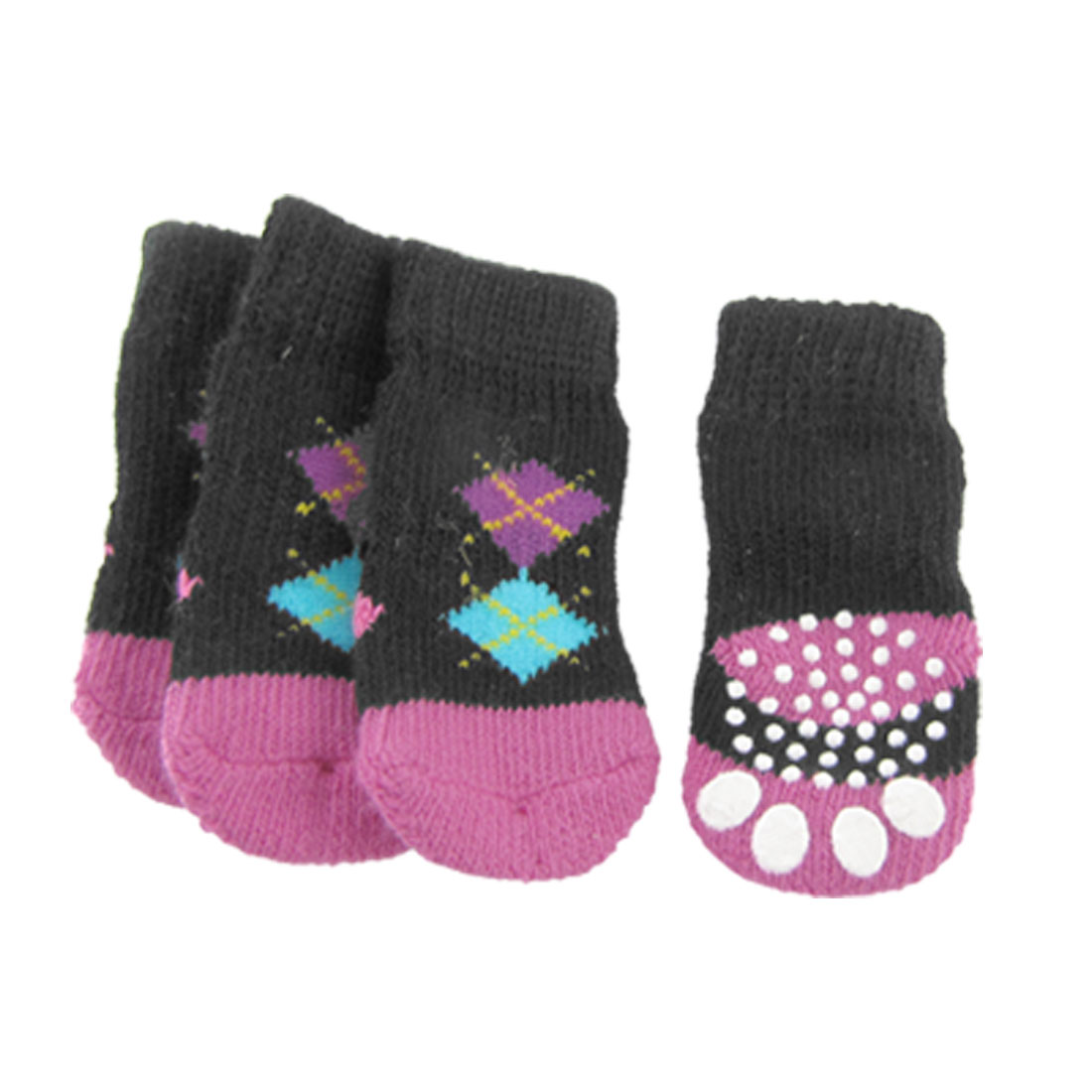 Colorful Antiskid Elastic Pet Dog Knitting Printed Socks