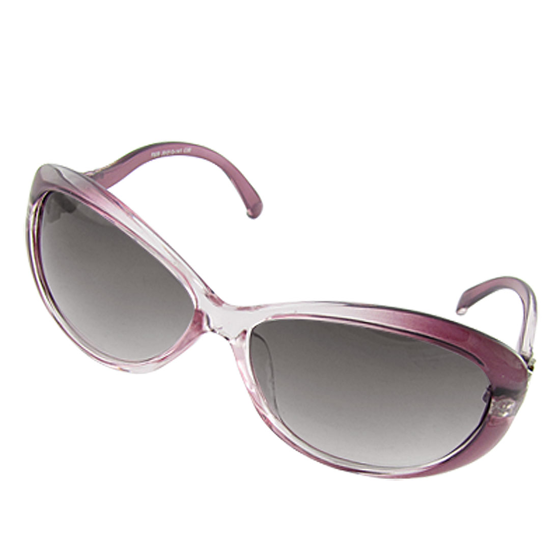 Purple Plastic Full Frame Arms Sunglasses UV Protection