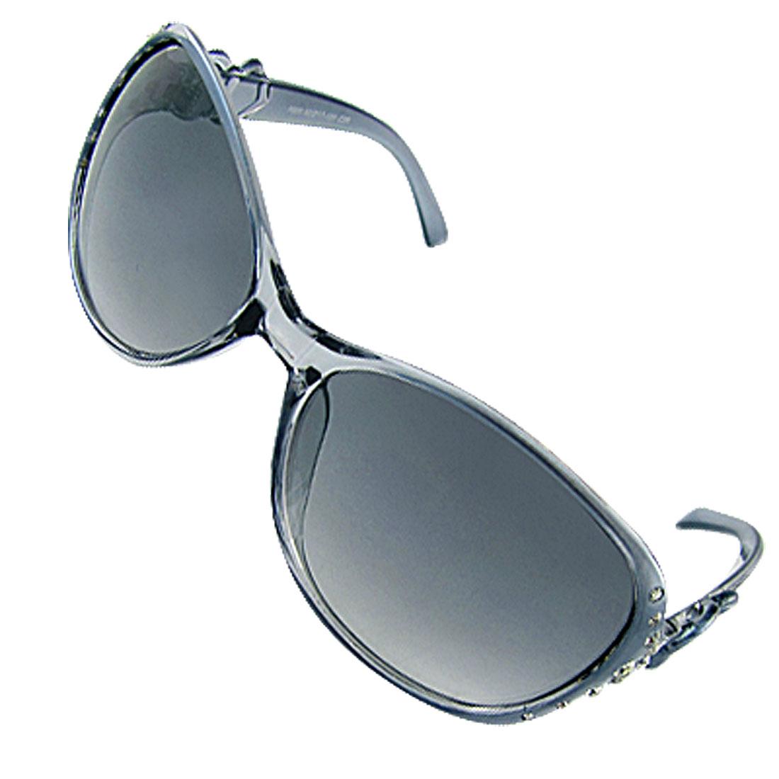 Women Ladies Rhinestone Decor Full Frame Sunglasses