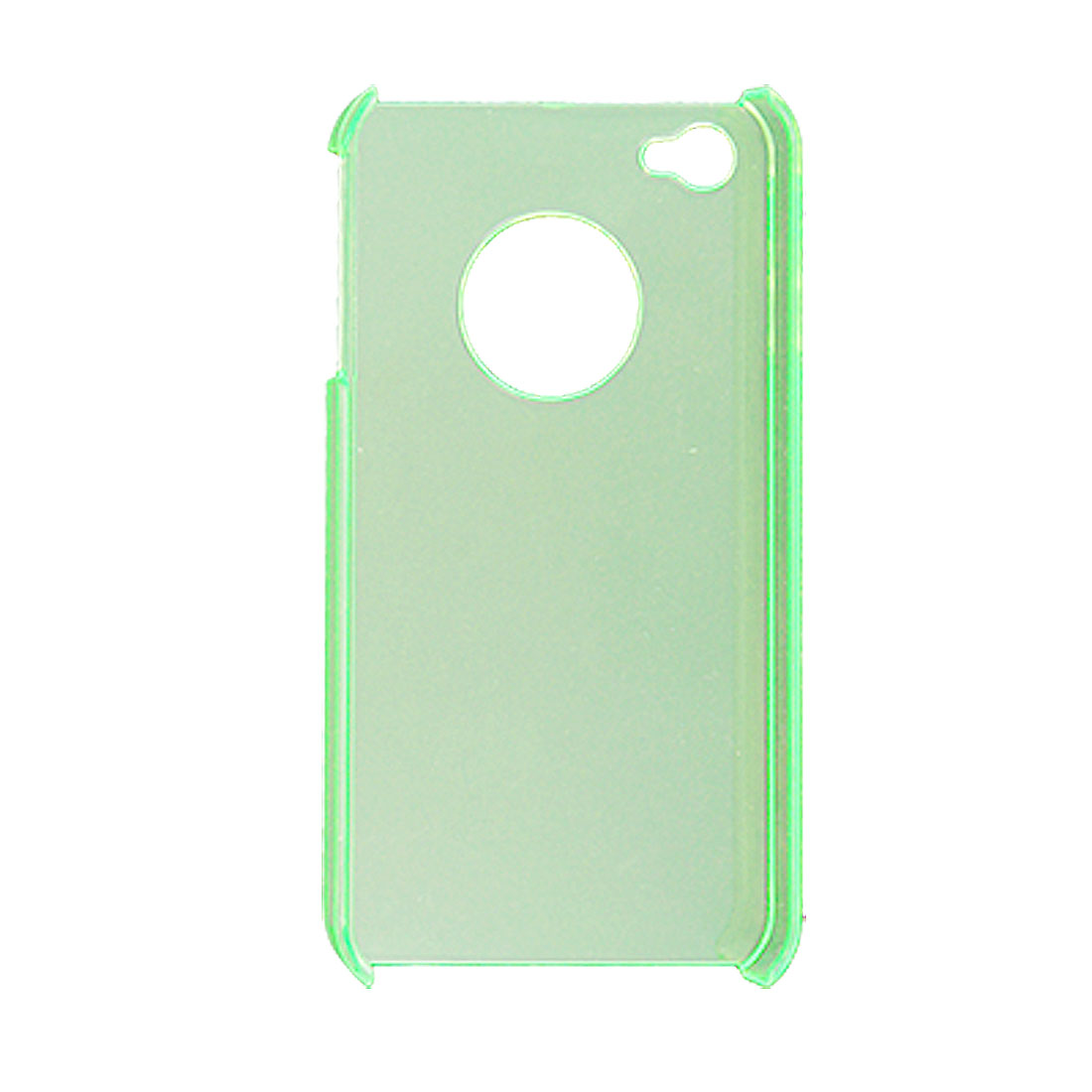 Clear Green Hard Plastic Cover Protector for iPhone 4 4G