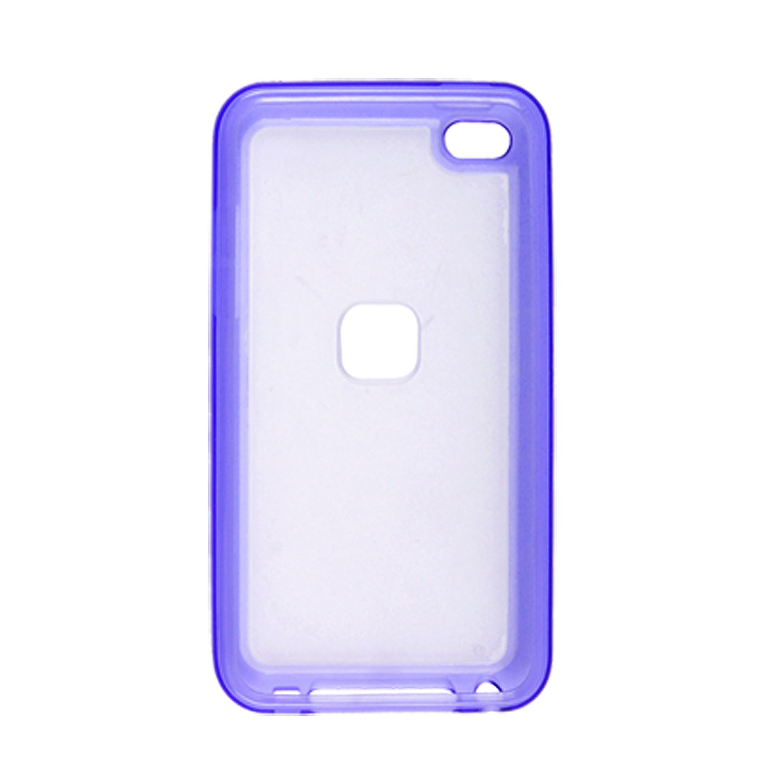 Anti Glare Plastic Purle Back Shell for iPod Touch 4G