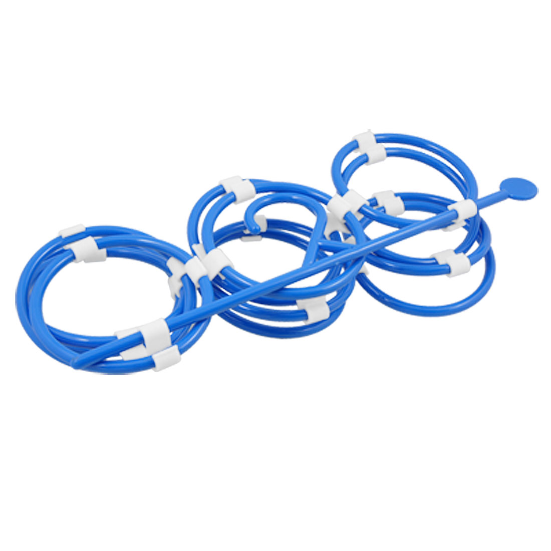 Multifunction Blue Plastic 12 Circles Tie Scarf Rack
