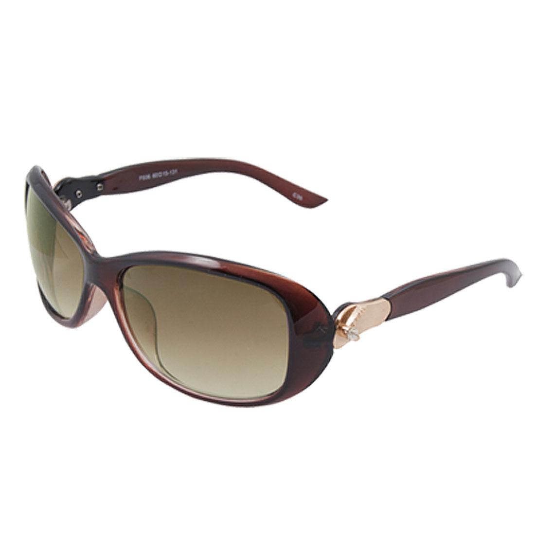Oval Lens Coffee Plastic Full Frame Slippers Decor Ladies Sunglasses