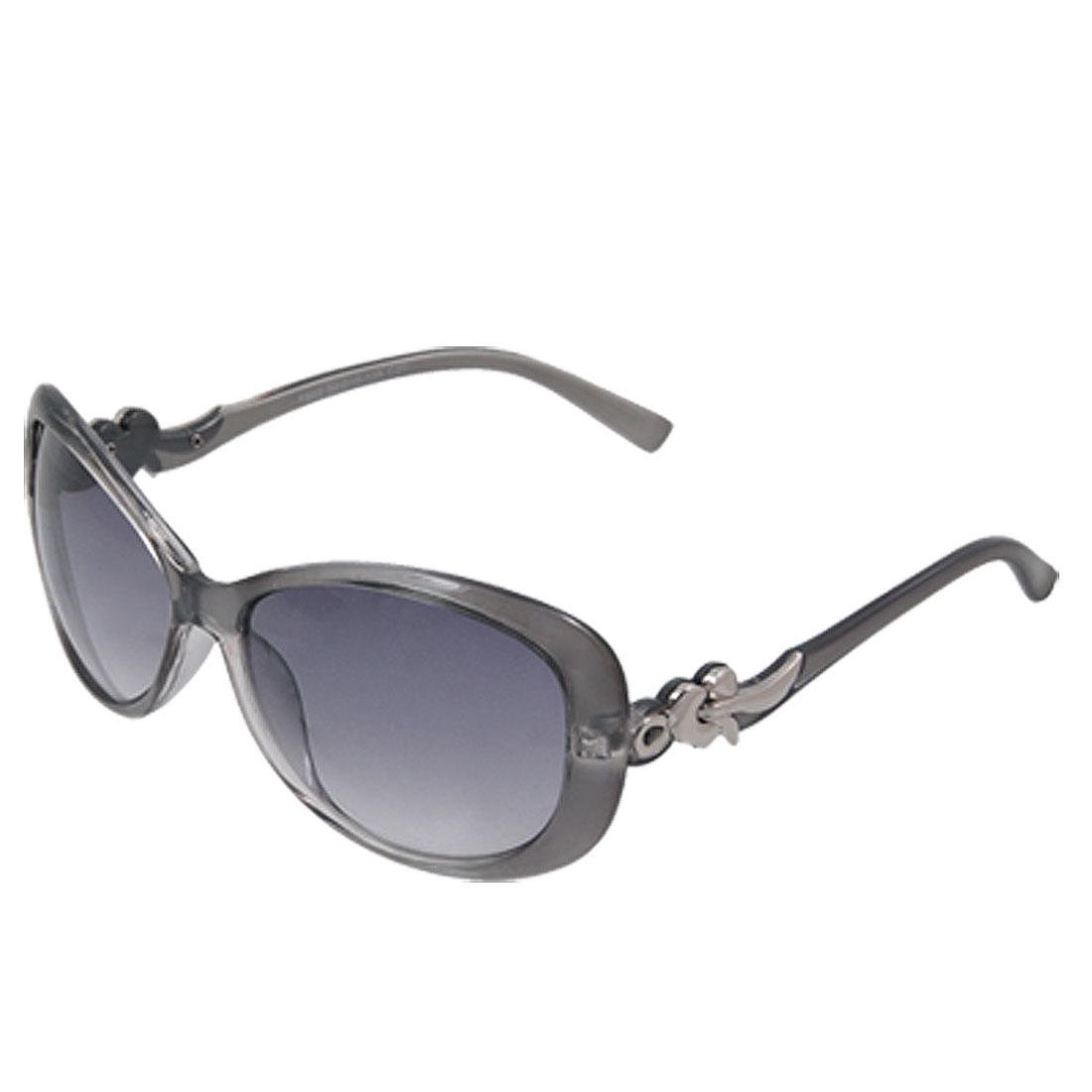 Ladies Wide Lens Eyewear Full-Rim Frame Sunglasses