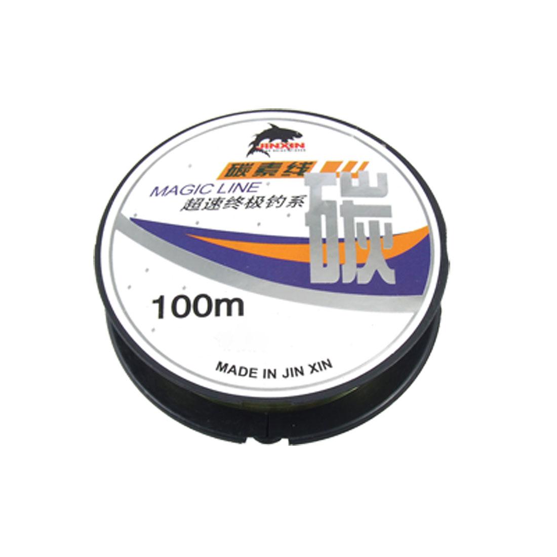 10Kg Pale Green Fishing Thread Spool 0.325mm Dia Line 100M 4#
