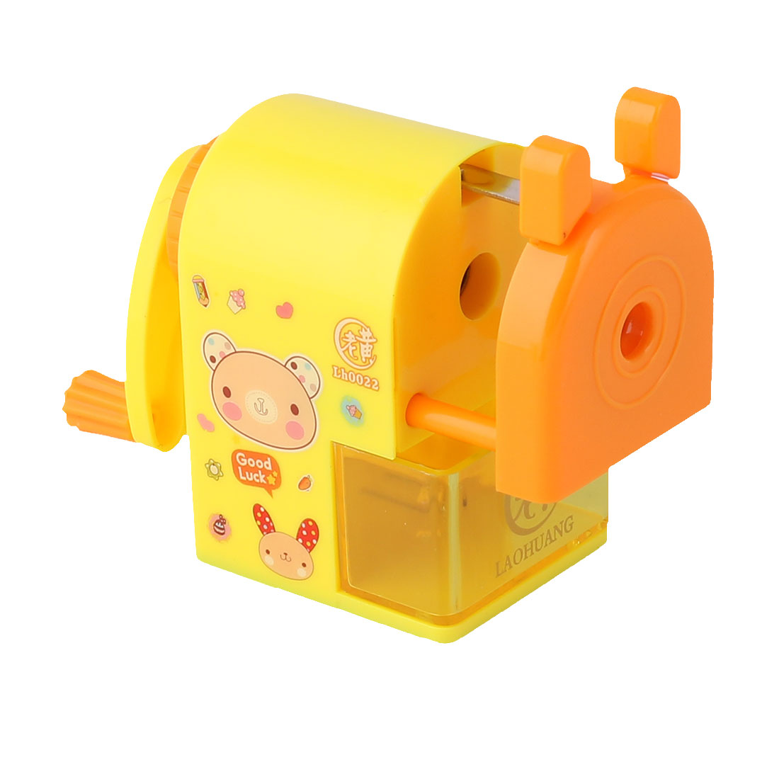 Bear Musical Note Print Manual Desktop Pencil Sharpener Yellow