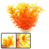 Yellow Red Plastic Plant Fish Tank Aquascaping Ornament