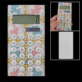 Lovely Dog Prints 8 Digits LCD Display Electronic Calculator Portable