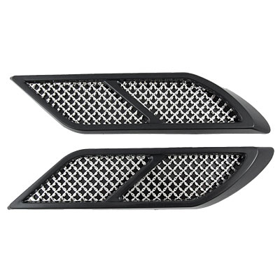 2 Pcs Car Auto Side Vent Air Flow Fender Mesh Euro Duct