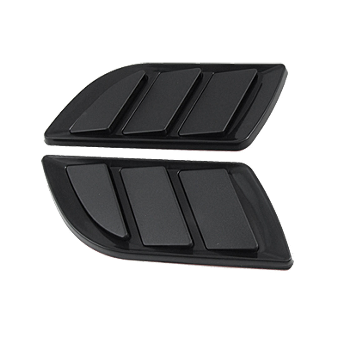 2 Pcs Black Air Flow Fender Car Side Vent Euro Duct