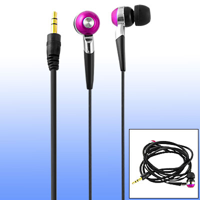 Black 3.5mm Plug In Ear Type Headphone Earphone for MP3 MP4