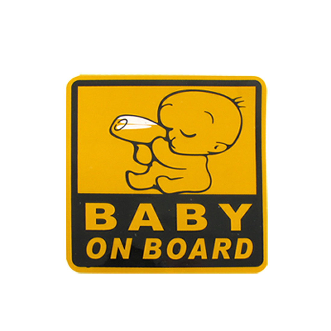 Baby on Board Yellow Black Car Safety Sign PVC Decal Sticker