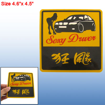 Sexy Driver Design Car Vehicle Decal Bumper Sticker