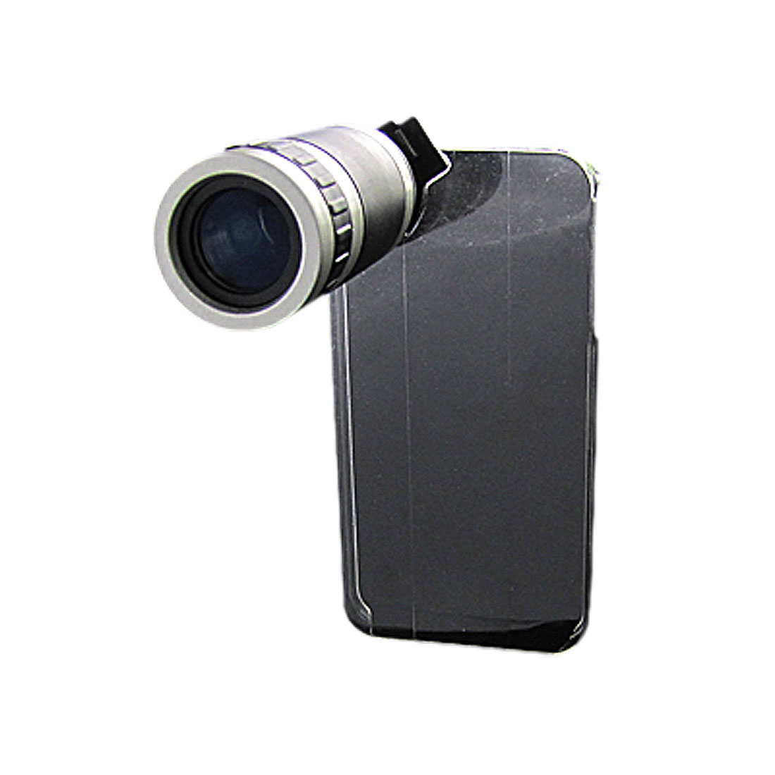6X Optical Zoom Lens Telescope Camera w Crystal Back Case for iPhone 4G