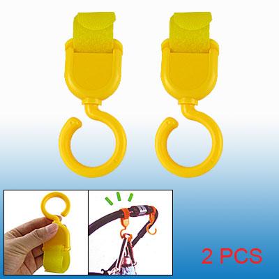 Yellow Baby Stroller Pram Bags Hook and Loop Fastener Swivel Hooks 2Pcs