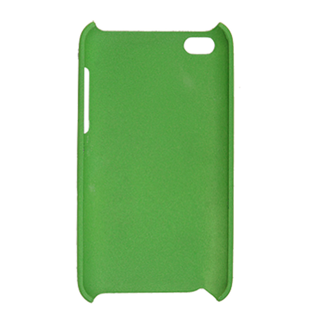 Rubberized Hard Plastic Back Green Cover Guard for iPod Touch 4