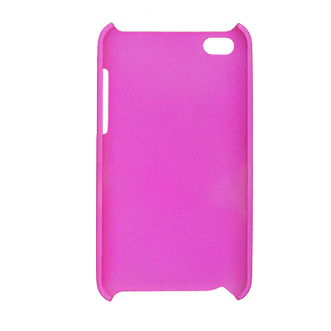 Amaranth Pink Rubberized Plastic Back Cover Case for iPod Touch 4