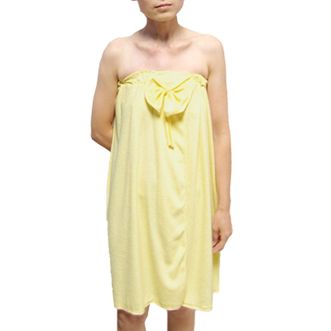 SPA Body Shower Terry Wrap Towel Bathrobe Yellow for Girl