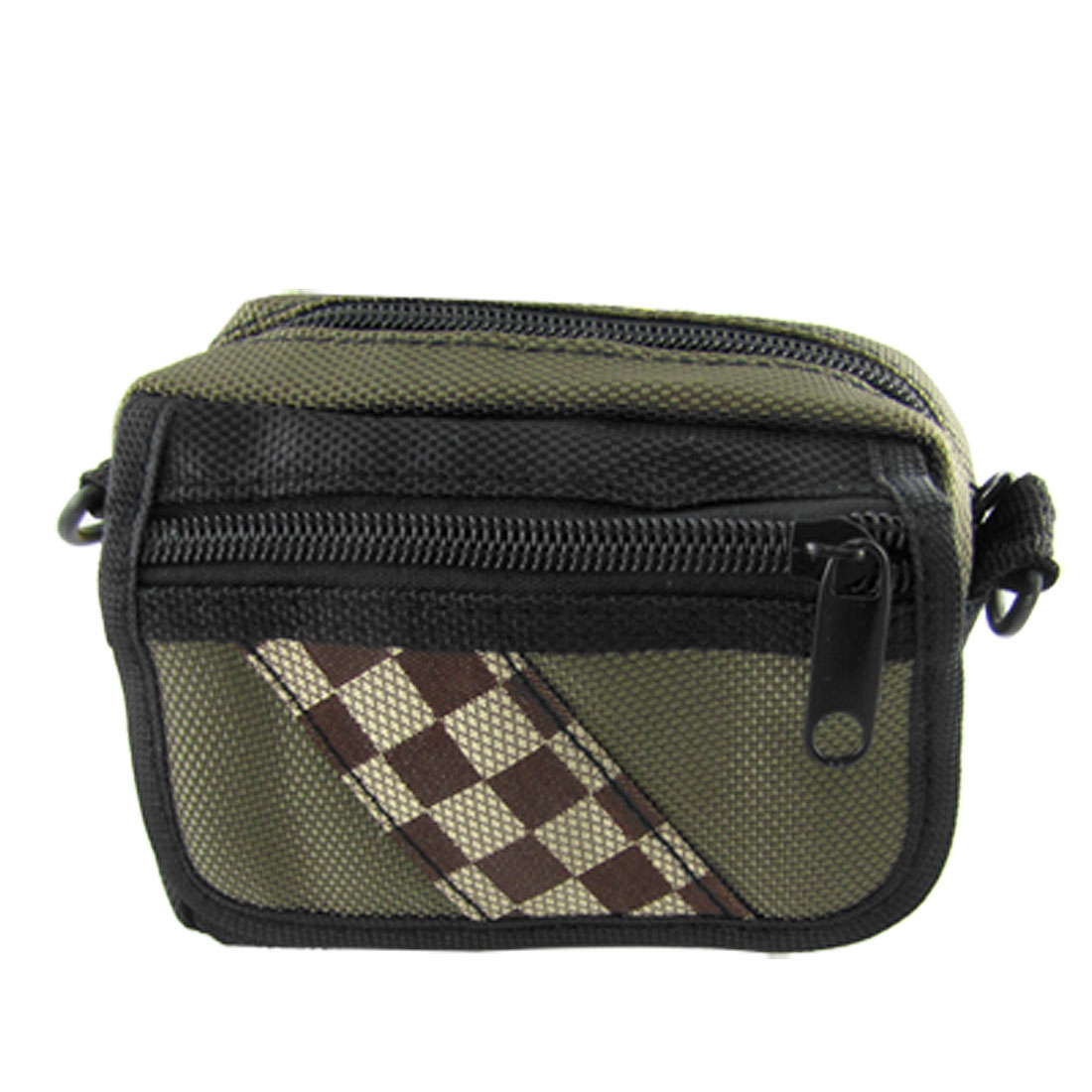 Digital Camera 3 Pocket Nylon Pouch Shoulder Carrying Bag