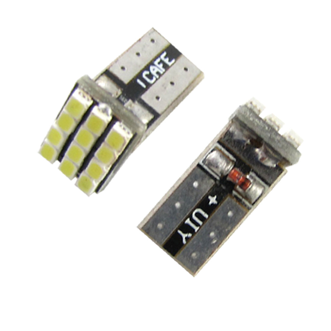 Vehicles SMD 12 SMD 1210 LED White Light T10 Bulbs for Car Backup Lamp 2 Pcs
