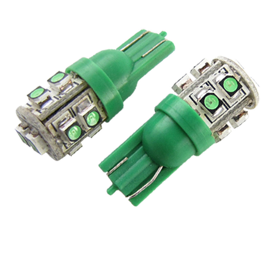 T10 1210 3528 Car Turn Signal Brake Light Green SMD 10 LED Pair