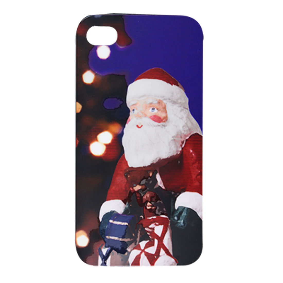 Hard Plastic Santas Gifts Print Back Case for iPhone 4 4G