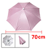 Pink Nylon Headwear Umbrella Hat Golf Fishing Camping