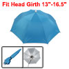 Sky Blue Folding Umbrella Hat with Adjustable Headband
