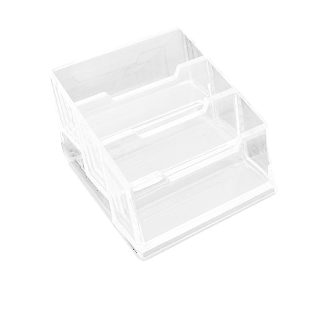 Plastic 3-layer Design Clear Name Business ID Card Stand Holder Case Box