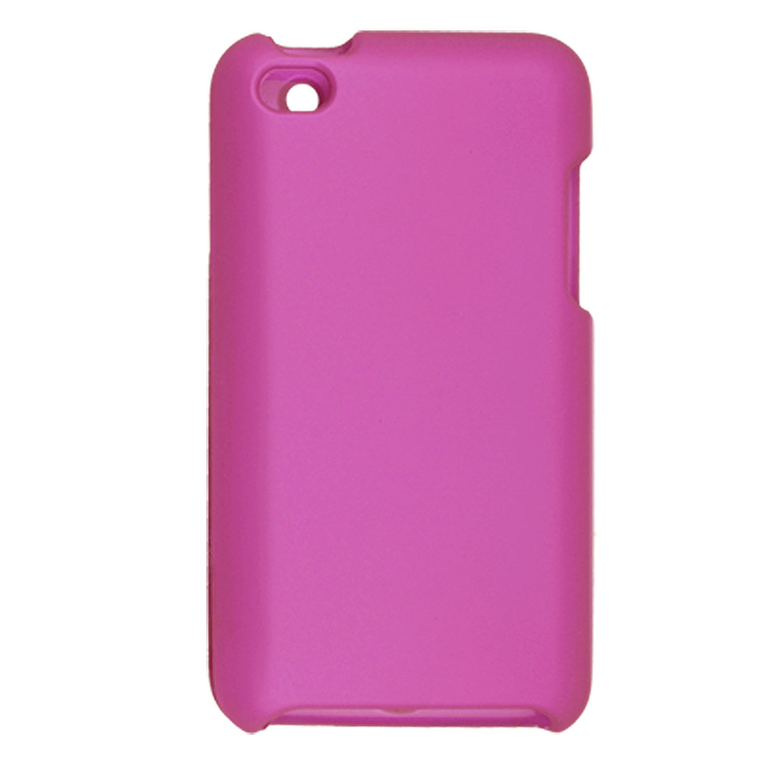 Rubberized Plastic Fuchsia Cover Case for iPod Touch 4G