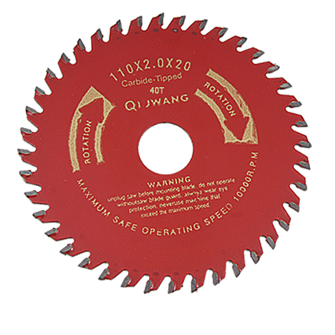 40 Tooth Round 110mm Diameter Red Wood Cutter Saw Cutter