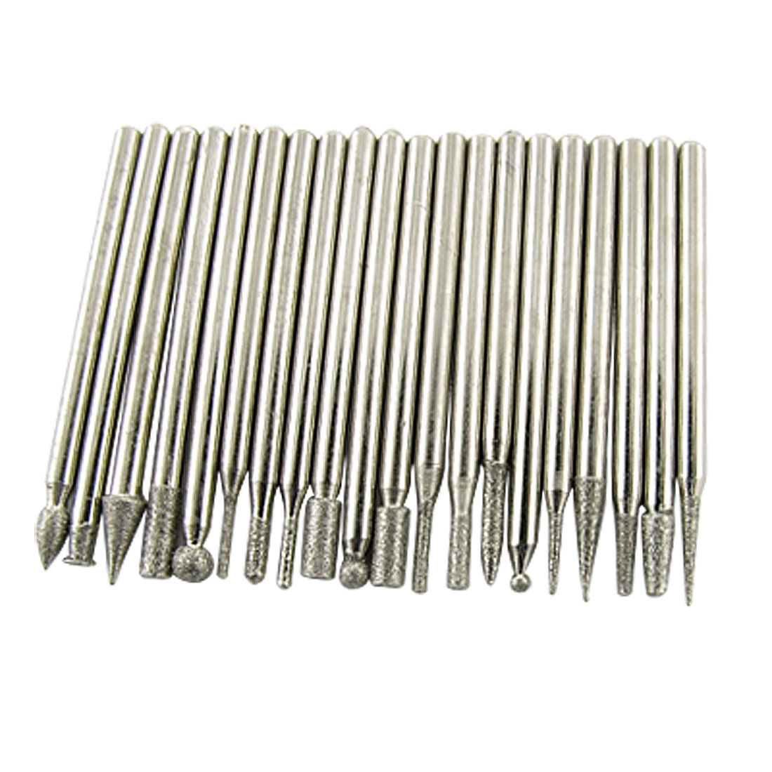 20 Pcs Diamond Coated Cylindrical Taper Ball Grinding Bits