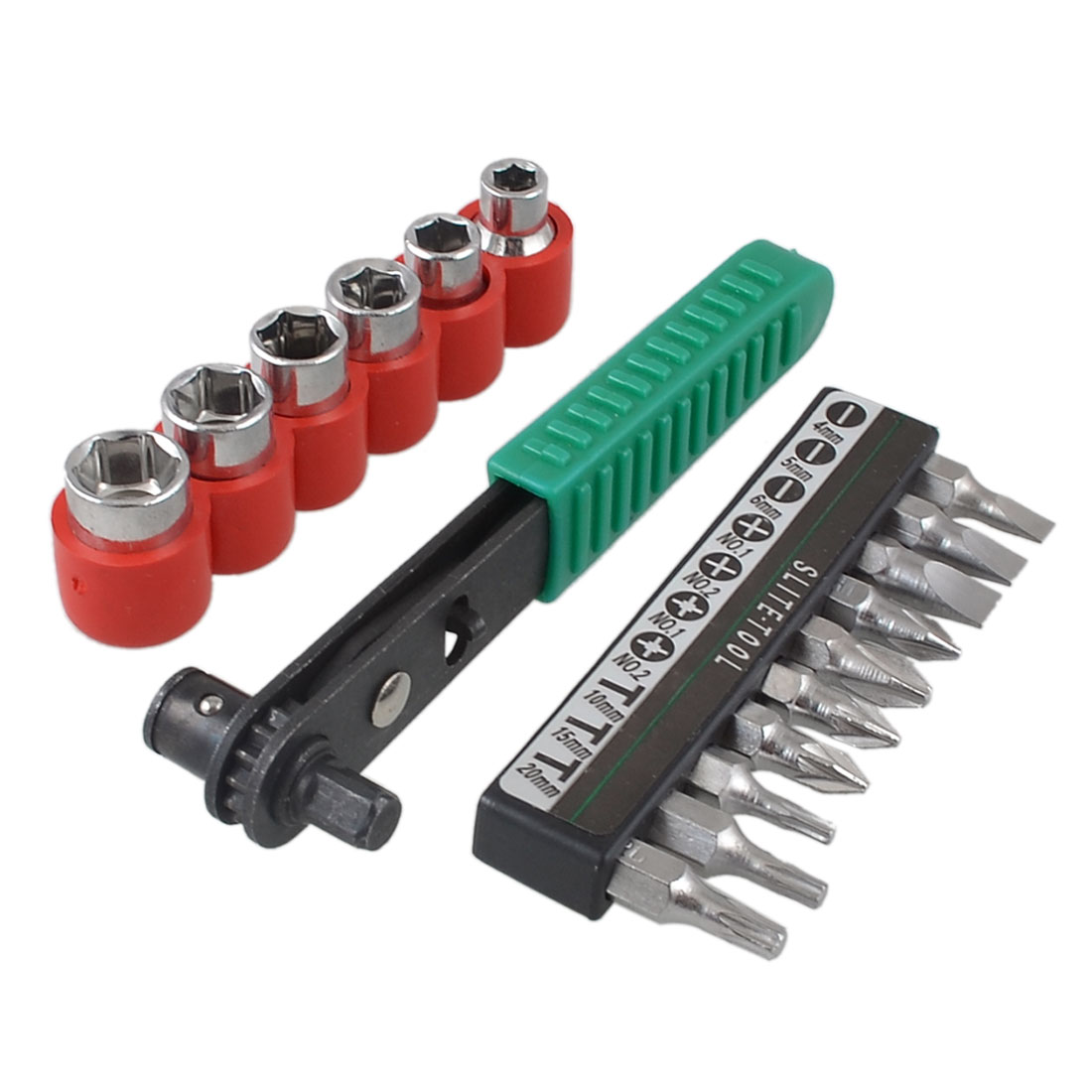 Double End Offset Ratchet Screwdriver Bit Socket Set Tool