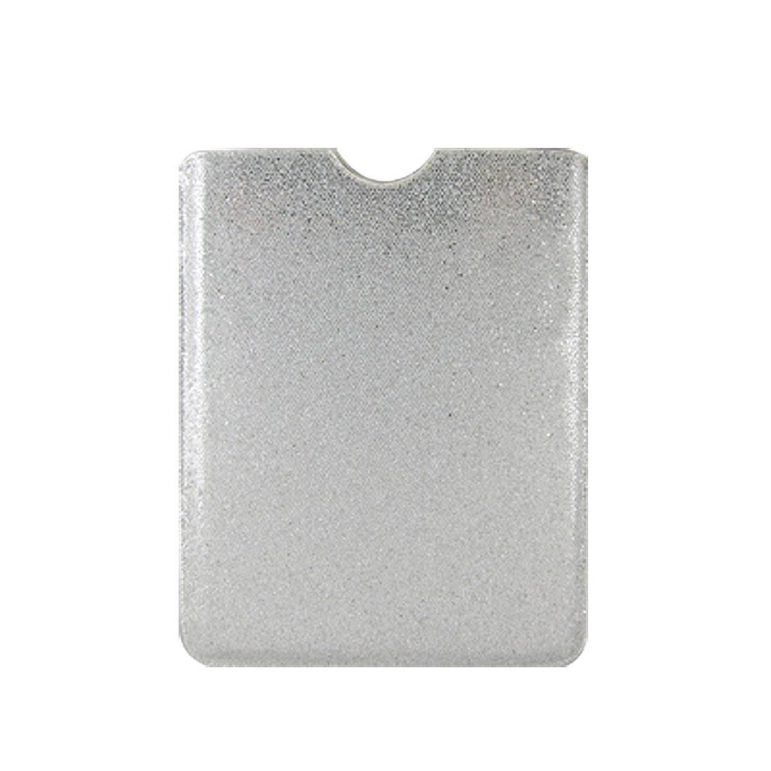 Glittery Silver Tone Sequin Case Pouch