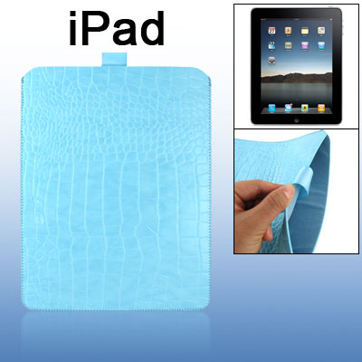 Skyblue Faux Leather Nonslip Pull Tab Sleeve for iPad 1