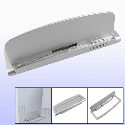 Silvery Plastic Non-charging Stand Base for iPad