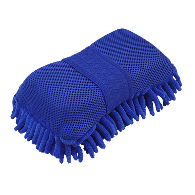 Car Single Side Washing Cleaner Blue Microfiber Sponge Pad