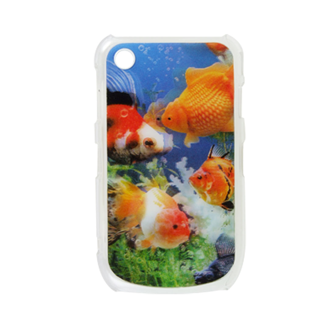 3D Fish Back Cover Plastic Case for BlackBerry 8520
