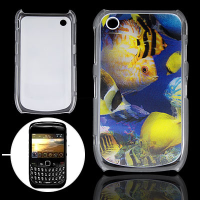 3D Sea Fish Hard Plastic Back Cover for Blackberry 8520