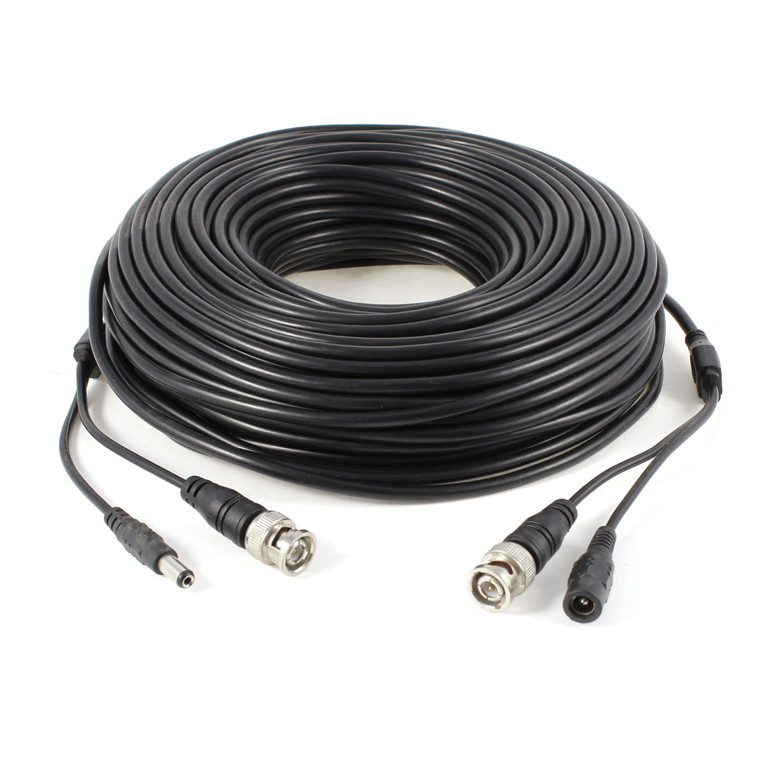 40M 132ft Black BNC CCTV Camera Surveillance Video Power Cable