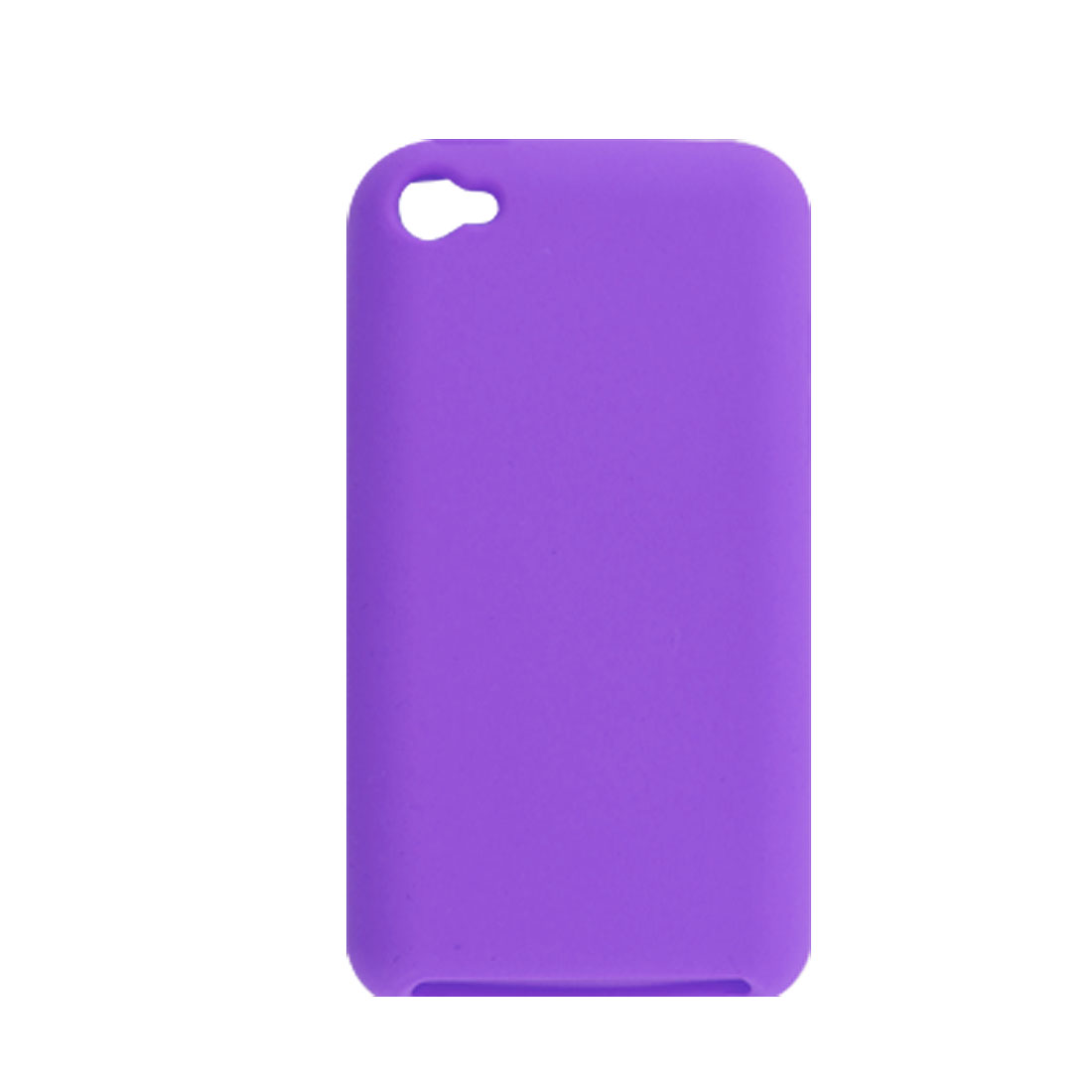 Purple Silicone Skin Case Protector for iPod Touch 4G