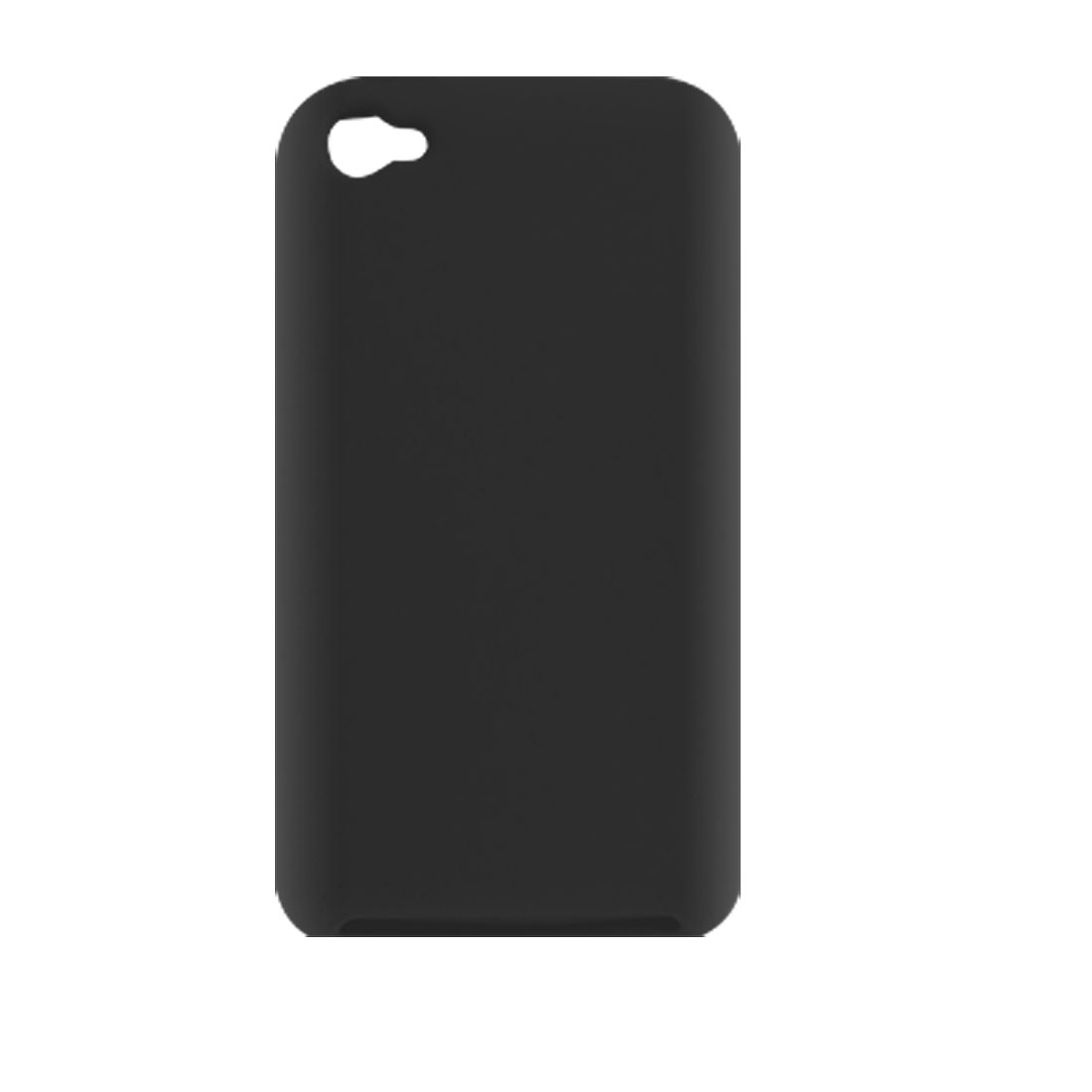 Protective Black Silicone Skin Case for iPod Touch 4G